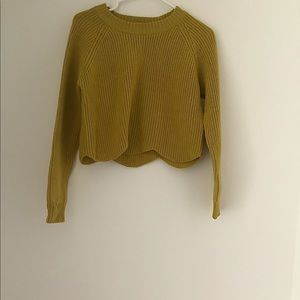 WILFRED knit crop sweater